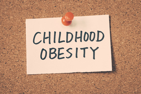 obesidad: obesidad infantil Foto de archivo