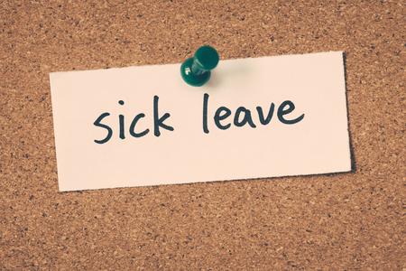 sick leave: sick leave
