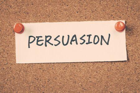 persuasion: persuasion