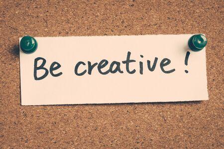be: be creative