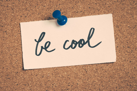 be: be cool Stock Photo