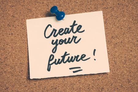 create: create your future Stock Photo