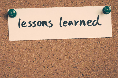 learned: lessons learned