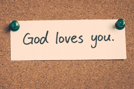 jesus word: God loves you