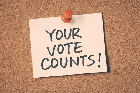 counts: your vote counts Stock Photo