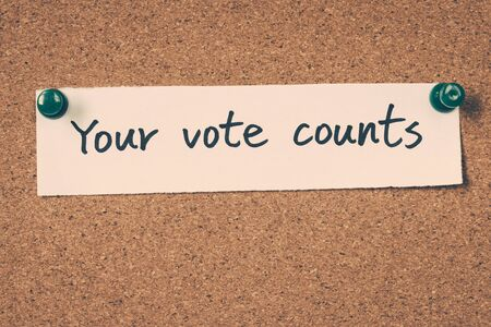 vote: your vote counts Stock Photo