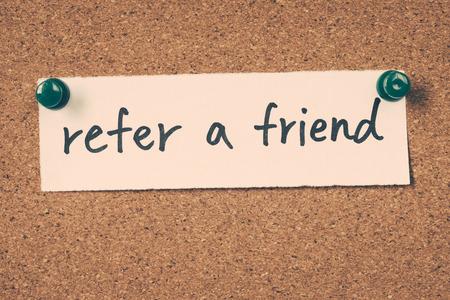 refer a friend Standard-Bild