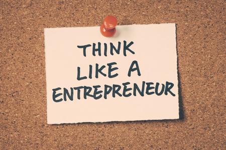 think like a entrepreneur Standard-Bild