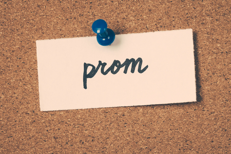 pin board: prom Stock Photo