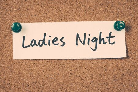 retro lady: Ladies Night Stock Photo