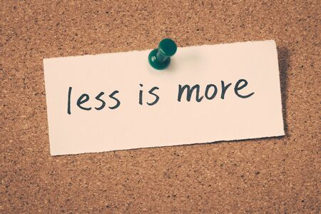 less: less is more Stock Photo