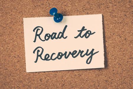 road to recovery Foto de archivo