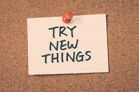 to try: try new things Stock Photo