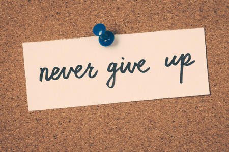 nunca: never give up