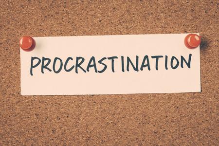 procrastination: procrastination