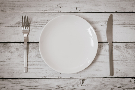 plate setting: plate fork knife
