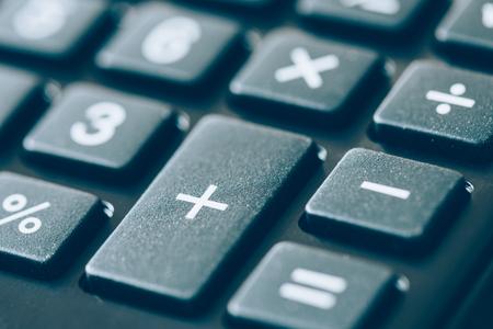 finance background: calculator Stock Photo