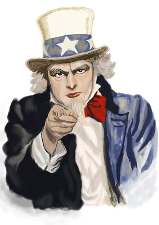 sam: Uncle Sam. Digital painting.