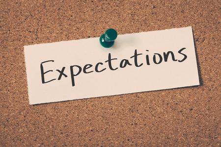 Expectations Foto de archivo
