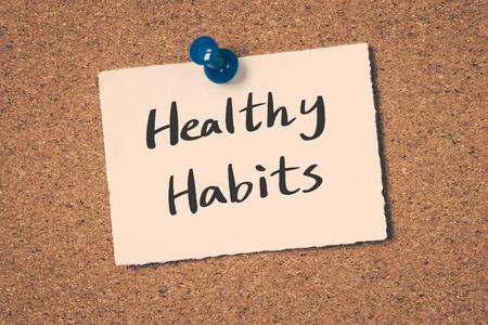 habitos saludables: Hábitos saludables Foto de archivo
