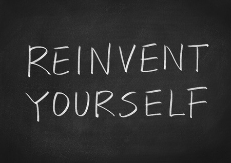 yourself: Reinvent yourself Stock Photo