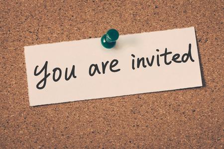 Estás invitado Foto de archivo - 65151007