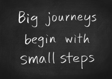 empezar: grandes viajes comienzan con pequeños pasos