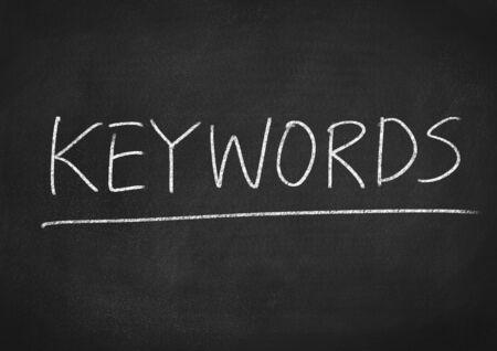 keywords: keywords Stock Photo