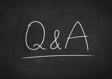 qa: Q&A Stock Photo
