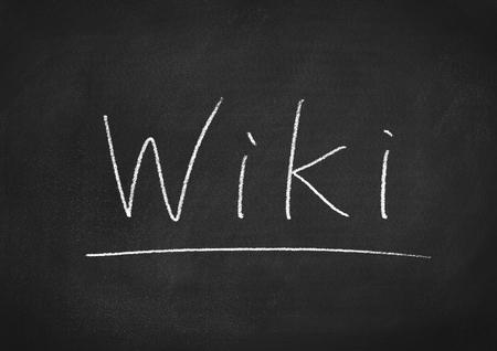wiki wikipedia: wiki Stock Photo