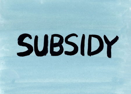subsidy concept word Stockfoto