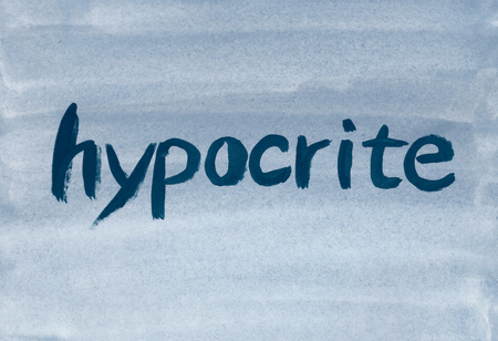 hypocrite concept word Stock Photo