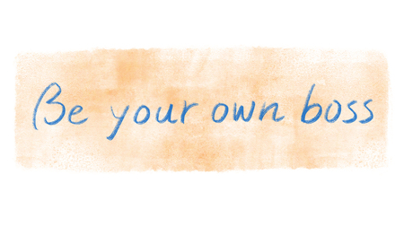 be your own boss concept
