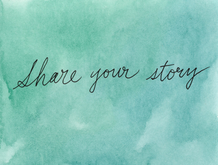 share your story concept Imagens