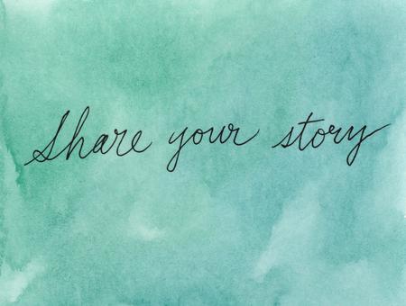 share your story concept Foto de archivo