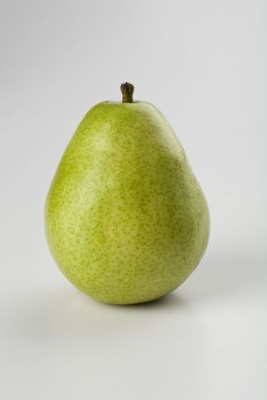 flawless: A Flawless Anjou Pear Isolated on White Stock Photo