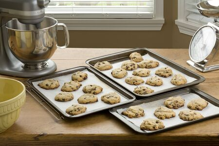 Fresh baked chocolate chip cookies Stock Photo - 7070225