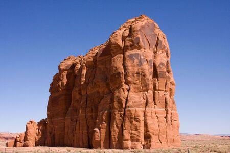 bluff: Red rock bluff jutting out of the Arizona desert. Stock Photo