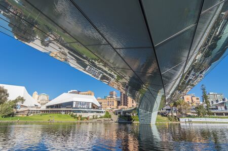 adelaide: Adelaide views along the River Torrens walkway Editorial