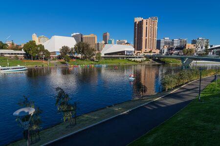 adelaide: Adelaide views along the River Torrens walkway Editorial