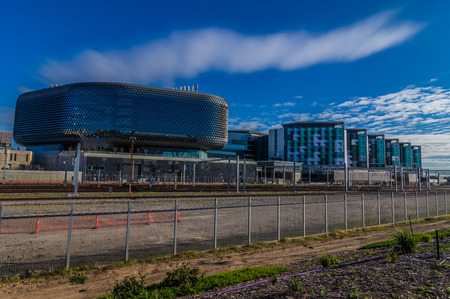 adelaide: The new Royal Adelaide Hospital nearing completion next to the SAHMRI research building