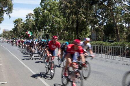 adelaide: Adelaide Australia 2015 January 25 The Tour Down Under races around the beautiful city streets  of Adelaide.