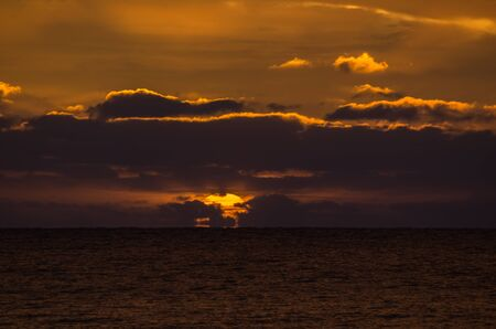 adelaide: Dramatic and beautiful sunset at Largs Bay Jetty Adelaide South Australia