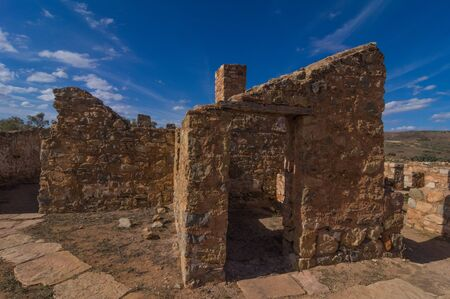 flinders: Outback South Australia the old Kanyaka Homestead sits abanded in the Flinders Ranges National Park Stock Photo