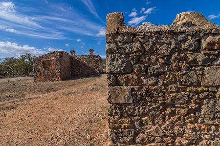 ranges: Outback South Australia la vecchia Kanyaka Homestead siede abanded nei Flinders Ranges National Park