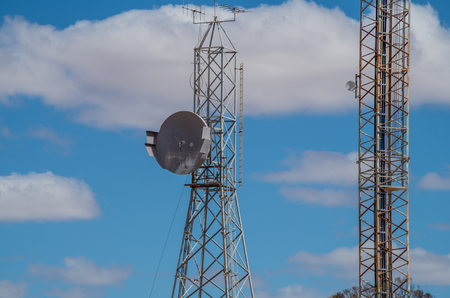 comunication: Comunication towers in rural South Australia