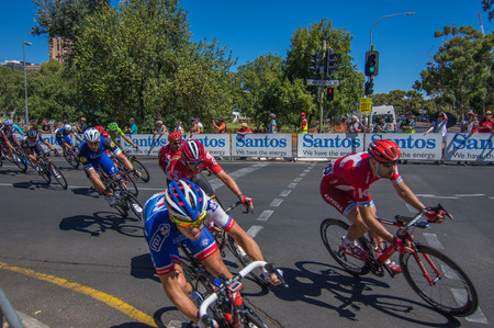 world sport event: Adelaide Australia January 24 2016 The Tour Down Under races through the city streets of Adelaide Editorial