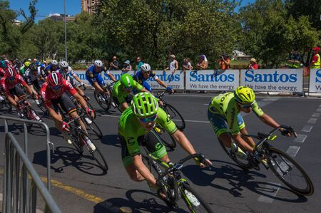world sport event: Adelaide Australia January 24 2016 The Santos Tour Down Under races through the city streets of Adelaide