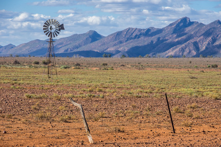 flinders: Windmill in the  Flinders Ranges National Park located in outback South Australia