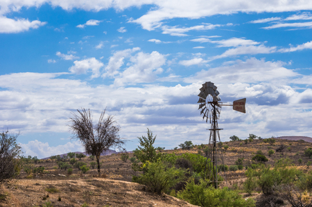 the outback: Windmill in the  Flinders Ranges National Park located in outback South Australia